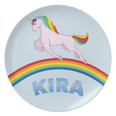 Kira Plate for children - kitchen gifts diy ideas decor special unique individual customized