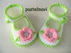 Spring time crocheted baby shoes!!