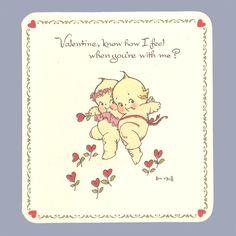 Vintage Valentine Card Valentine's Day 1970s Rose O'Neill Kewpies | eBay