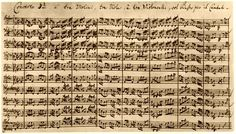 J.S. Bach (1685-1750) - Brandenburg Concerto No. 3 in G major - 1st mov - BWV 1048 (Köthen 1721) #bach #manuscript