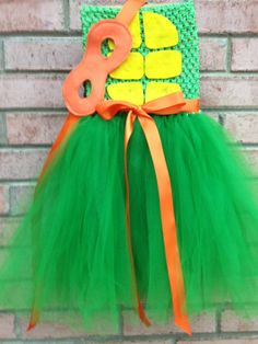 Ninja turtle tutu dress Halloween costume with by JustaPiddlin, $45.00