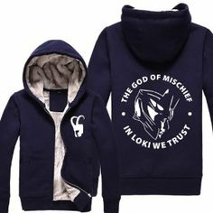 Loki Jakcet Hoodie Winter Costume Loki Pattern Navy for Movie Thor 2 Dark World Cosplay Xcoser Size XX-Large Loki Costume, Loki Cosplay, Marvel Hoodies, Avengers Outfits, Cotton Pads, Padded Jacket, Black Hoodie, Shirt Designs, Cute Outfits