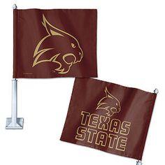 Texas State University Car Flag