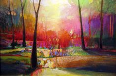 """Contemporary Painting - """"""""Coppice 846"""""""" (Original Art from MARK GOULD)"""