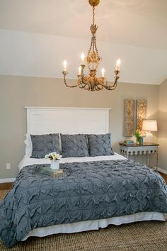 LOVE IT || Both the headboard and comforter! || Fixer Upper: Country Style in a Very Small Town || HGTV