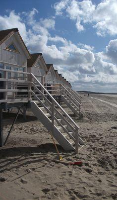 Beach in Domburg (Zeeland), The Netherlands een rustige plek om even bij te komen.
