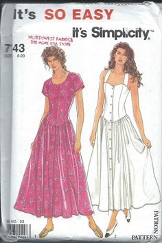 SIMPLICITY 7143 Sewing Pattern...Dress by PatternsNew2U on Etsy, $6.00