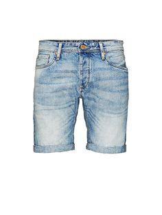 ORIGINALS by JACK & JONES - Shorts von ORIGINALS - Mittellang  - 5-Taschen-Modell - Knopfleiste - Umgeschlagene Bündchen - Bleichungen sorgen für den Used-Look - Markenlogo-Schildchen an der Münztasche 100% Baumwolle...