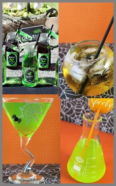 halloween drinks. i like the top right one.