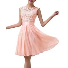 4 Colors 2015 New Women Summer Dress Sleeveless Elegant Lace Chiffon Princess Knee Length Party Dresses Vestidos
