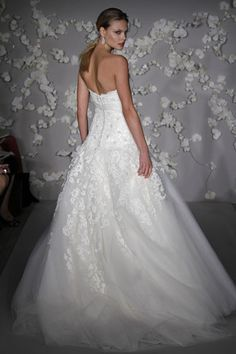JLM Couture Alvina Valenta Floral & Tulle Wedding Dress - Nearly Newlywed