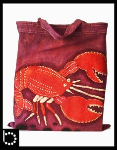 We LOVE Lobsters handmade unique batik tote. $12.00, via Etsy.  #JoesCrabShack