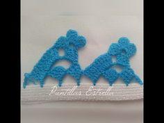 YouTube Crochet Boarders, Crochet Edging Patterns, Crochet Lace Edging, Crochet Diagram, Love Crochet, Beautiful Crochet, Picot Crochet, Crochet Cord, Crochet Quilt