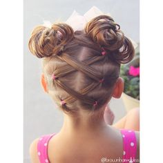 Elastics that kris-kross into messy bun pigtails :). I hope that everyone is having a great day!