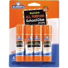 Elmer's Washable School Glue Sticks, .24 oz, 4pk/$2.67