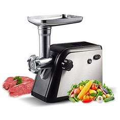 Homeleader 800W Electric Meat Grinder Mincer with 3 Stainless Steel Cutting Plates Blades Sausage Stuff Maker K18010 ** Read more at the image link. (This is an affiliate link) #KitchenUtensilsGadgets