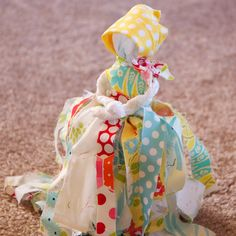 Get out your old fabric scraps, and make a rag doll. They are addictive!