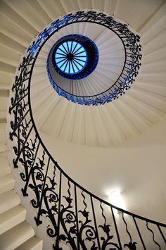 Tulip staircase, Queen's House, Greenwich, London, England by Jennie Filer Photography via flickr