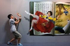 ilusao otica pintura parede 13