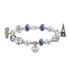 Bracelet: Go Los Angeles Dodgers! #1 Fan Charm Bracelet