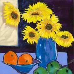 Sunflower & Fruit by Bernie Wisniewski Limited Edition mounted print