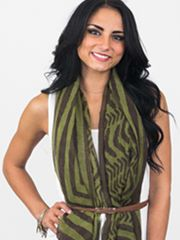 Belted Scarf 40 ways to tie a scarf