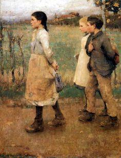 James Guthrie, Schoolmates, 1884-85, Canvas, 137 x 101.5, Musee des Beaux-Arts, Ghent.