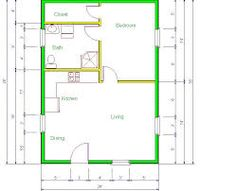 16' x 24 floor plans - Google Search