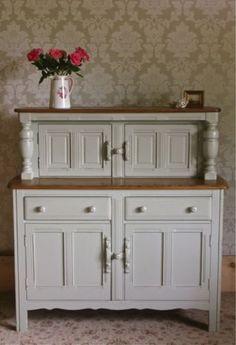 Shabby Chic Ercol Elm Dresser Court Cupboard Sideboard FarrowBall French Gray