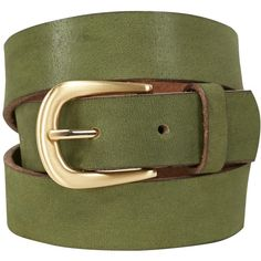 White Stuff Wilding Buckle Belt, Kale Green (705 CZK) ❤ liked on Polyvore featuring accessories, belts, white belt, green leather belt, genuine leather belts, real leather belts and buckle belt