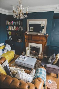 An inspirational image from Farrow and Ball-Hague blue