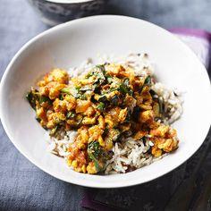 Minced turkey curry