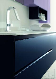 arredo bagno design blu glicine zer04 prezzo arredacasaonline