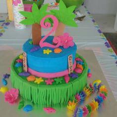 Luau Birthday Cake Childrens Cakes My Style Pinterest Luau