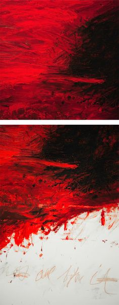 Cy Twombly - The Fire that Consumes All before It, 1978, oil, oil crayon, and graphite on canvas