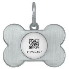 qr code pet bone shaped tag template pet name tags #pet #tag