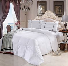 Discover our plush and cool Bamboo Down Alternative Comforters from the Royal Hotel Collection! The Rayon from Bamboo Comforter is over filled with more Down Alternative Fibers and it's quilted, baffle box construction keeps the filing in place. King Size Comforter Sets, Down Comforter, King Comforter, Pottery Barn, Modern Duvet Covers, Modern Bedding, Cool Comforters, Ikea, Shabby