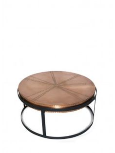 Zelig Black & Copper Coffee Table 80cm x 80cm x 38cm