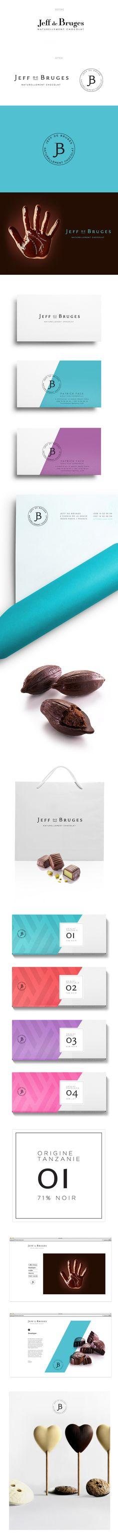 jeff de bruges rebrand by THEBAULT JULIEN, via Behance. Mmmm #chocolate #packaging #branding PD