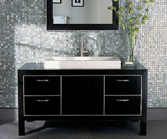 Vintage glass mosaic tiles from Walker Zanger can make your bathroom really sparkle.  #bathroomdesign #bathroomtiles #sparkle #bathroominspo #bathroomdecor #bathroomideas #bathroominspiration #bathroominterior #masterbathroom #ihavethisthingwithtiles #tiles #tiledesign #tileaddiction #tilelove #tiled #tileinspo #WalkerZanger #ByrdTile #RaleighTiles #mosaictiles #glasstiles by byrdtile