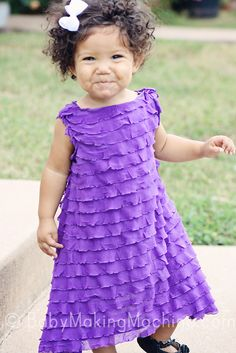 20 minute easy ruffle dress tutorial-dresses for girls. I already have this material in white in my stash...maybe a pink sash for Easter Sunday?