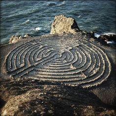 Stone Labyrinth  photo by Amy Knutkowski, possibly in San Fransisco.