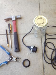 step by step instructions on how to build a mason jar chandelier.