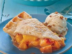 Serve this juicy double-crust peach pie with vanilla ice cream sprinkled with candied or toasted pecans. The brown sugar and the cinnamon...