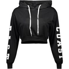 Letter Cropped Hoodie