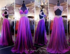 This beautiful Gown has a fitted bodice featuring sheer shoulder straps and a sheer illusion inset at the midriff with shining crystals and Open Back. And it's at Rsvp Prom and Pageant, your source fo