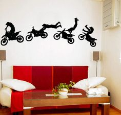 Dirtbikes....Ideas for my sons room