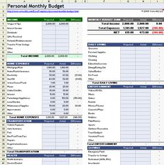 excel budget spreadsheet Household Budget Worksheet for Excel Family Budget Template, Family Budget Planner, Excel Budget Template, Planning Budget, Sample Budget, Financial Planning, Mortgage Calculator, Budget Spreadsheet, Budget Planner