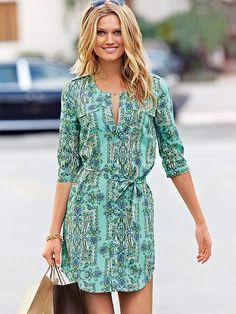 Belted Shirt Dress - Victoria's Secret