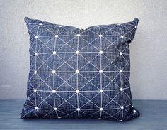 Linen pillow Geometric Pillow Cover white linen pillow von LIGNEUM